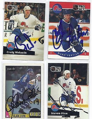 Steven Finn Signed / Autographed Hockey Card Quebec Nordiques 1991 Pro Set
