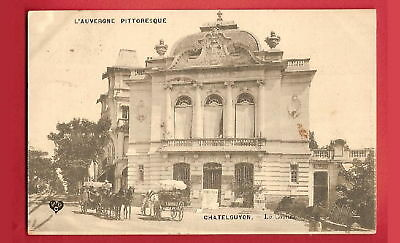 CPA postcard attelage Casino CHATEL GUYON 63 Auvergne A