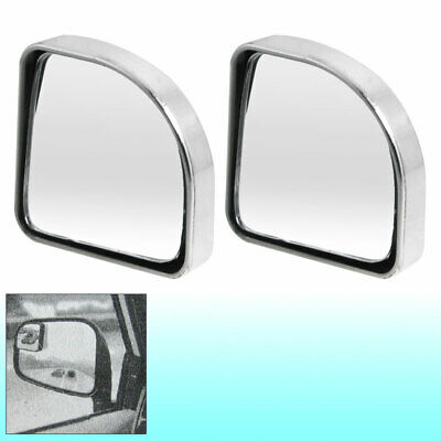 2pcs Silver Tone Car Self Adhesive Wide Angle Rear View Blind Spot Mirror