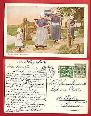 CPA old postcard 1930 Costume Melkvrouwen VOLENDAM Holland Pays Bas A