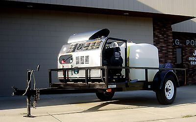 Hot Water Trailer Mounted Pressure Washer, Mobile Cleaning Equipment