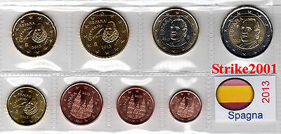 Euro SPAGNA 2013 - 8 PZ FDC in Blister -