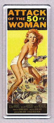 ATTACK OF THE 50ft. WOMAN movie poster  WIDE FRIDGE MAGNET - Sci Fi Classic!