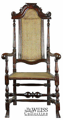 SWC-Caned William and Mary Armchair, England, c.1700