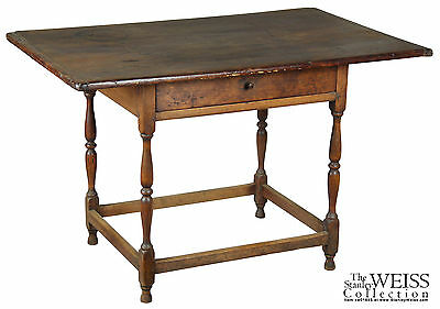 SWC-Turned Tavern Table, New England, 18th century