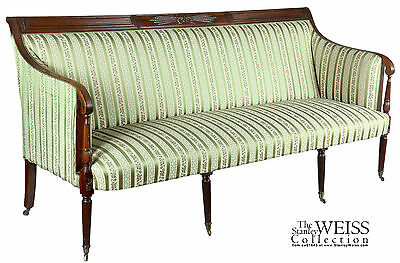 SWC- Mahogany Classical / Sheraton Sofa, New York, c.1810