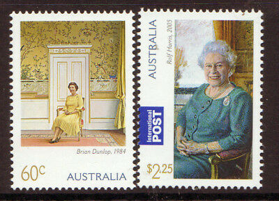 AUSTRALIA 2011 QUEEN'S 85th BIRTHDAY PAIR OF STAMPS UNMOUNTED MINT, MNH
