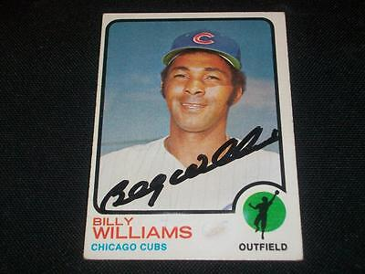Chicago Cubs HOF Billy Williams Signed Auto 1973 Topps Card #200  A17