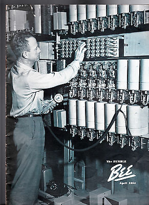 April 1954 The Humble Bee (Humble Oil Magazine) Checking Line Relays