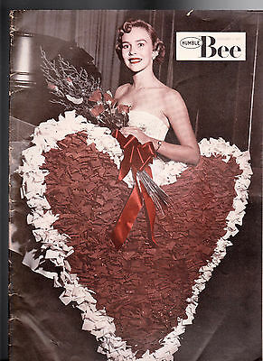 February 1957 The Humble Bee (Humble Oil Magazine) Judy Wood Valentine Queen