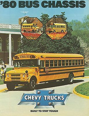 1980 Chevrolet Bus Chassis Brochure (Usa)