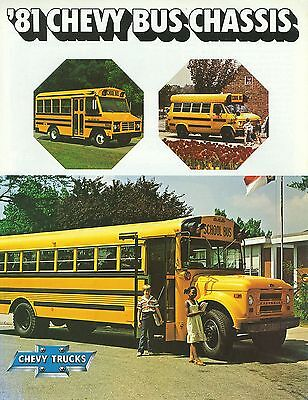 1981 Chevrolet Bus Chassis Brochure (Usa)