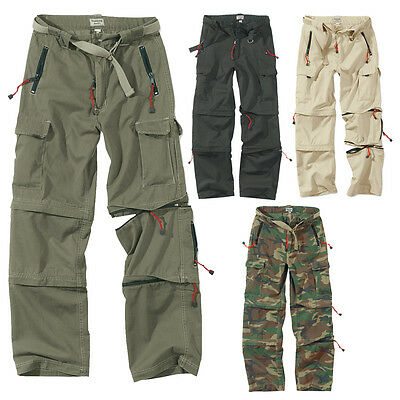 SURPLUS CARGO TREKKING HOSE OUTDOOR VINTAGE TROUSERS ZIP OFF PANT Walk Shorts
