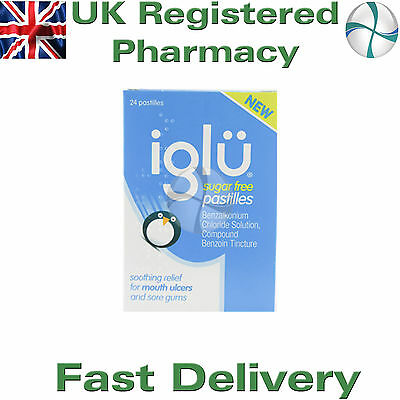 Iglu Pastilles Sugar Free Soothing Relief For Mouth Ulcers 24 Pastilles sore gum