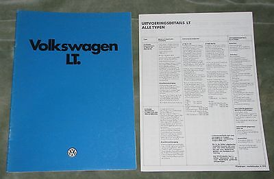 1979/80 Volkswagen Lt Brochure (Dutch)