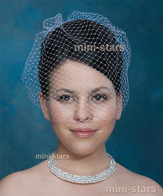 Bridal Wedding Fascinator Birdcage Netting White / Ivory Veil
