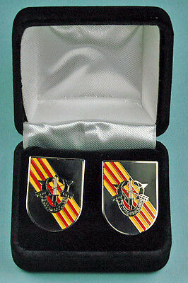 ARMY SPECIAL FORCES VIETNAM Cuff Links & Gift Box DE OPPRESSO LIBER SF Cufflinks