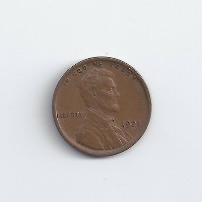 1921-P  Lincoln Wheat Cent in AU