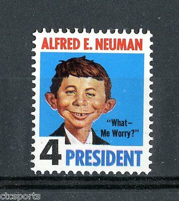 ALFRED E. NEUMAN - 1964 Mad Magazine Novelity Stamp - MNH Very Scarce
