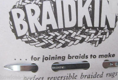 Braidkin lacing needle: rug braider lacer, braided rugs
