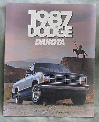 1987 Dodge Dakota Brochure (Aug 1986, Usa)