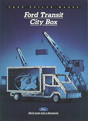 Ford Transit City Box Brochure (Dutch)
