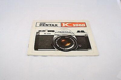 Pentax Asahi Camera K1000 Operating Instruction Manual (EN) 5110051 genuine