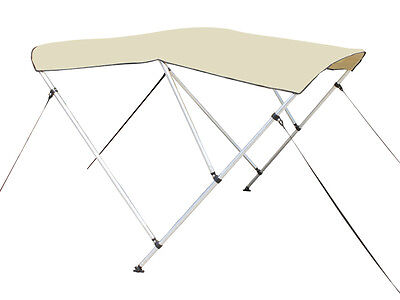 "Beige 3-Bow Frame BIMINI TOP Cover Boat 6'L x 46""H x 67""-72"" Wide 1"" Frame +Boot"
