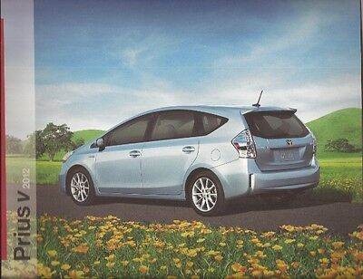 2012 12 Toyota Prius V oiginal sales brochure MINT