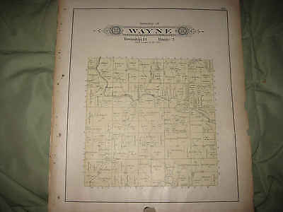 Antique 1902 Wayne Township Columbiana County Ohio Map W Named Land Owners Nr