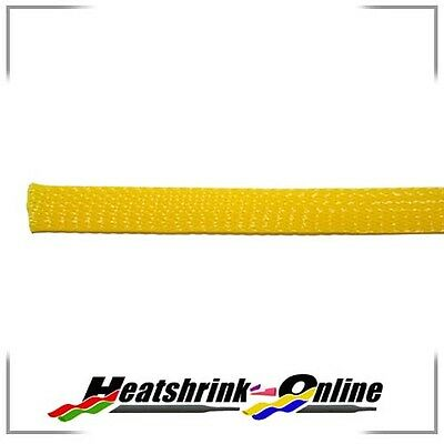 Yellow Expandable Braided Polyester Sleeving 25mm for cables