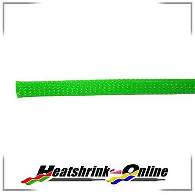 Green Expandable Braided Polyester Sleeving 25mm for cables