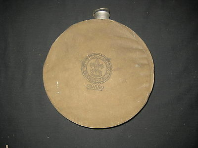 Boy Scout Mirro Brand 1930-40s one quart Canteen with Canvas Cover