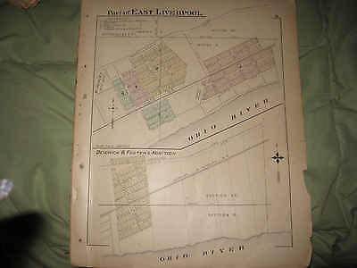 Antique 1902 East Liverpool Dedrick Foster Addition Columbiana County Ohio Map N