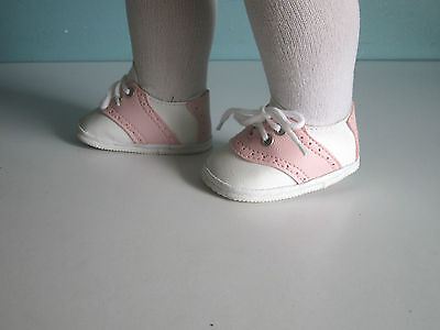 PINK and WHITE CLASSIC SADDLE SHOES fits American Girl & Bitty Baby/Twins