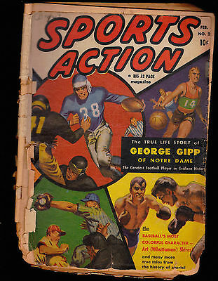 Sports Action #2 comic- George Gipp the Gipper Life Story, Art Shires