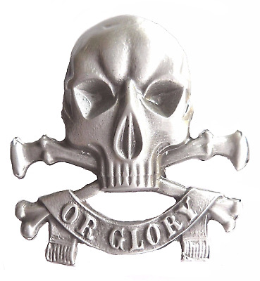 The Clash Death Or Glory Skull Pin Badge - PK2