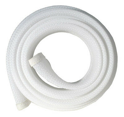 Fisual Zip Up Cable Tidy Wrap - White - 1M