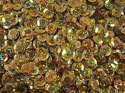 Sequins Cup 10mm Laser Gold 20g Dance Costumes Beading Bead FREE POSTAGE