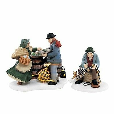 Dept 56 Dickens A GOOD DAY'S CATCH Set/2 MIB MINT!