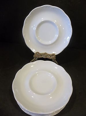 Sterling Colonial English Ironstone J & G Meakin England 7 saucers white china