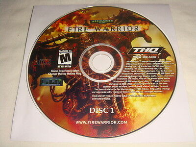 Disc 1 ONLY for Warhammer 40,000 : Fire Warrior - PC Computer game Disc Only M