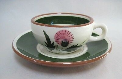 Stangl Pottery Thistle Pattern Cup and Saucer