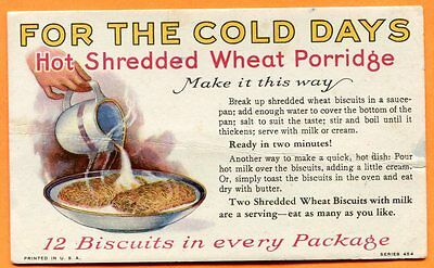 Shredded Wheat Porridge, circa 1940