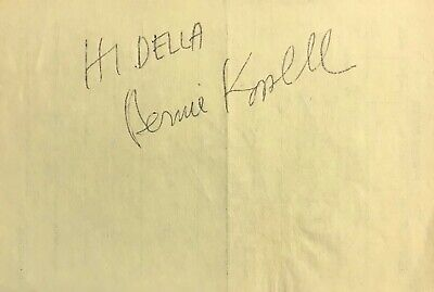 BERNIE KOPELL AUTOGRAPHED YELLOW RESTAURANT PAPER RECEIPT w/COA THE LOVE BOAT