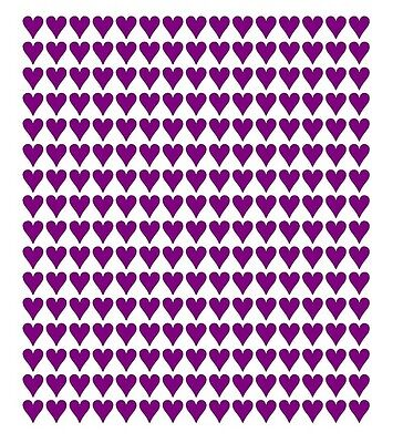 240 x  Heart Shape Vinyl Stickers 10mm Self Adhesive Peel and Stick