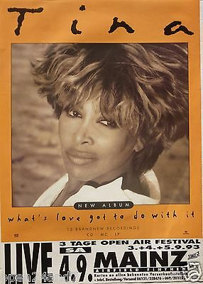 "Tina Turner ""what's Love Got To Do With It 1993 Tour"" German Concert Poster"