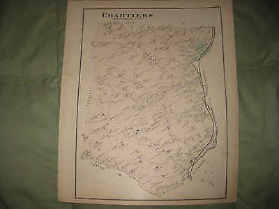 Antique 1876 Chartiers Township Canonsburg Washington County Pennsylvania Map