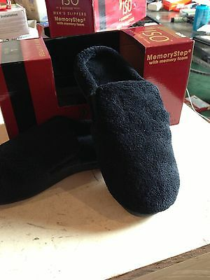 ISOTONER MEN'S SLIPPERS MEMORY FOAM CLOG BRAND NEW IN BOX ISO BLACK OR BLUE NIB