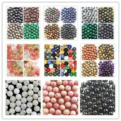 Wholesale Mixed Natural Gemstone Round Spacer Loose Beads 4,6,8,10,12mm